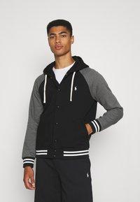 Polo Ralph Lauren - BASEBLHOODM LONG SLEEVE - Zip-up sweatshirt - black - 0