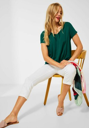 KNOTEN DETAIL - Print T-shirt - grün