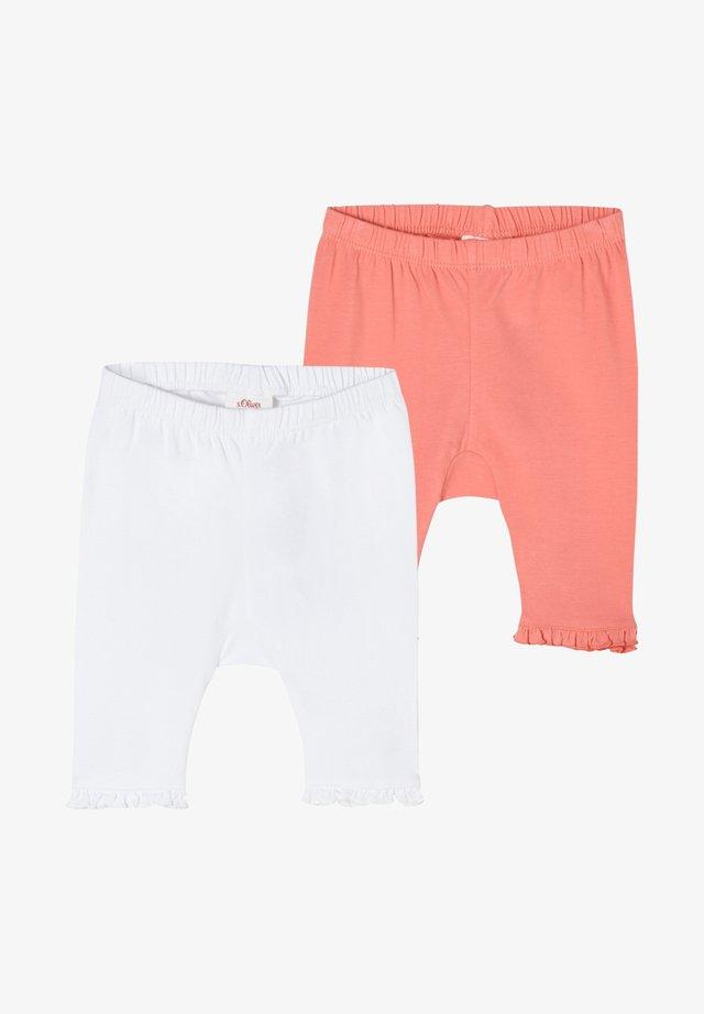 PACK OF 2 - Leggings - Hosen - white pink