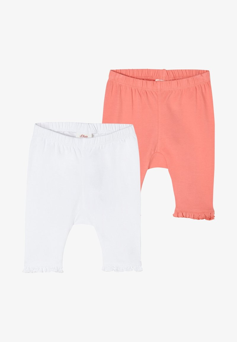 s.Oliver - PACK OF 2 - Leggings - Trousers - white pink