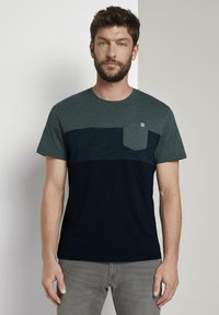 TOM TAILOR - T-Shirt print - stroke green - 0
