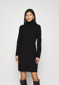 Marc O'Polo - DRESS TURTLE NECK - Jumper dress - black - 0