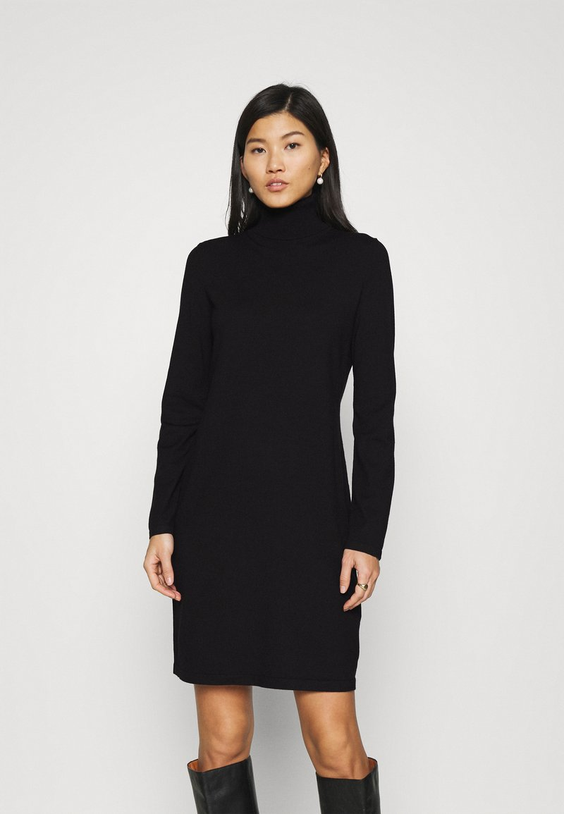 Marc O'Polo - DRESS TURTLE NECK - Jumper dress - black