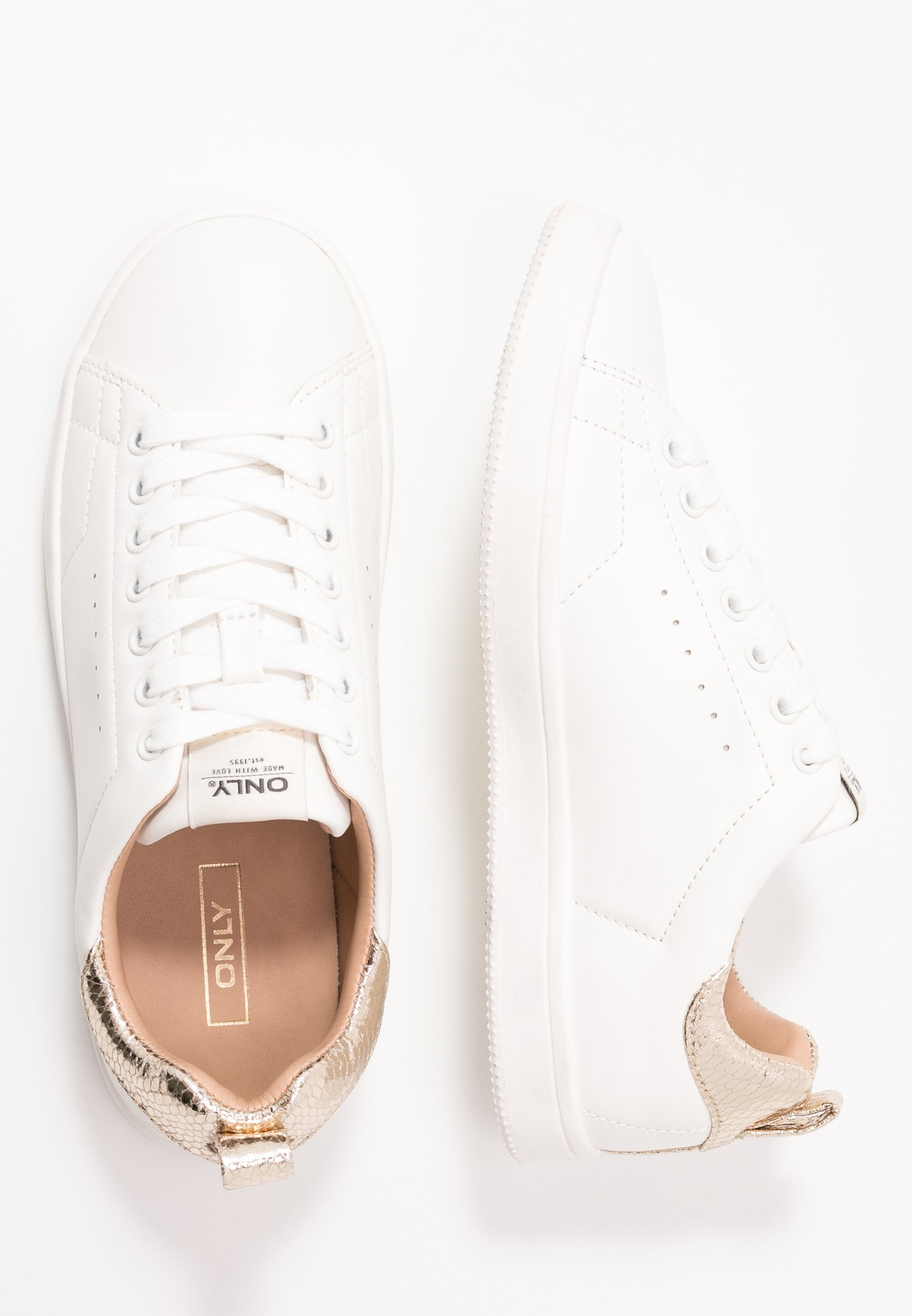 Donna ONLSHILO ANIMAL - Sneakers basse - white/gold