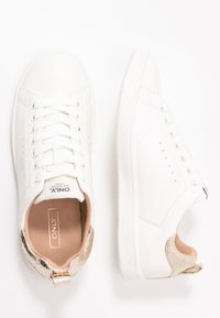 ONLY SHOES - ONLSHILO - Zapatillas - white/gold - 3