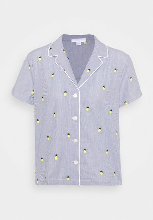 POPLIN - Pyjama top - light blue/yellow