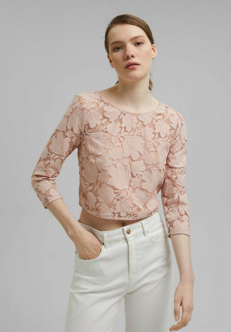 Esprit Collection - LACE SHIRT - Print T-shirt - nude