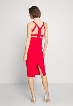 KIRMIZI - Pouzdrové šaty - red