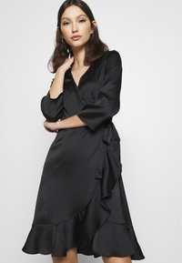 Vero Moda - VMHENNA WRAP DRESS - Cocktail dress / Party dress - black - 3