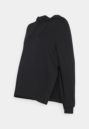 NURSING FUNCTION hoodie with side slits - Bluza z kapturem - black
