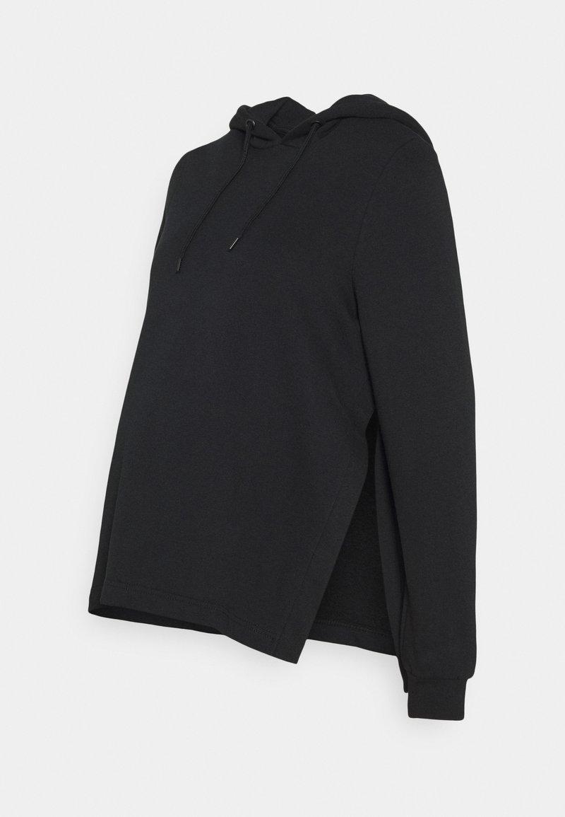 Anna Field MAMA - NURSING HOODIE WITH SLIT - Jersey con capucha - black