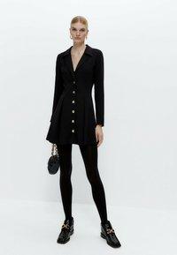 Uterqüe - Shirt dress - black - 1