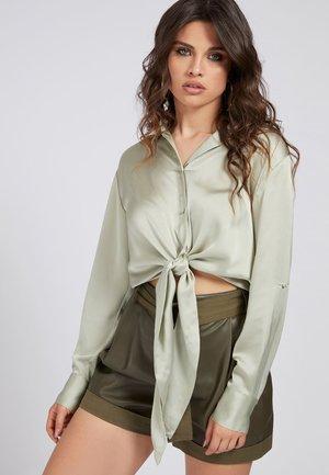 Button-down blouse - wassergrün