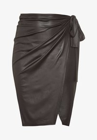 Yours Clothing - Wrap skirt - black - 3