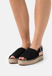 Simply Be - WIDE FIT RACHAEL - Platform sandals - black - 0