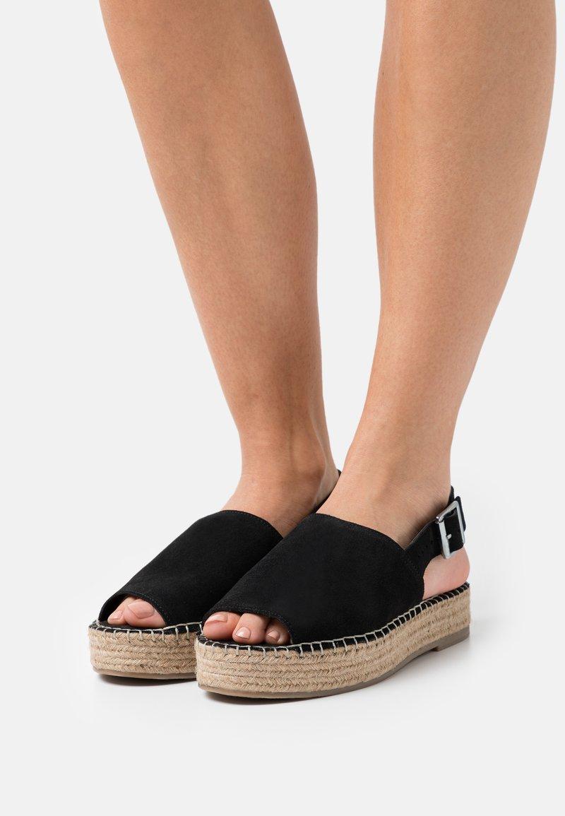 Simply Be - WIDE FIT RACHAEL - Platform sandals - black