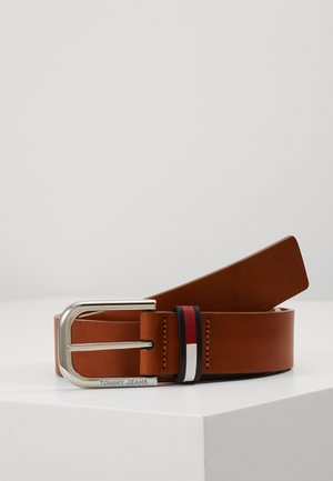 PIN BUCKLE FLAG INLAY - Belte - brown
