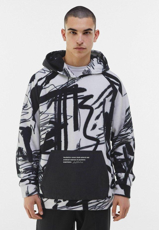 MIT KAPUZE UND POLAR-PRINT - Hoodie - dark grey