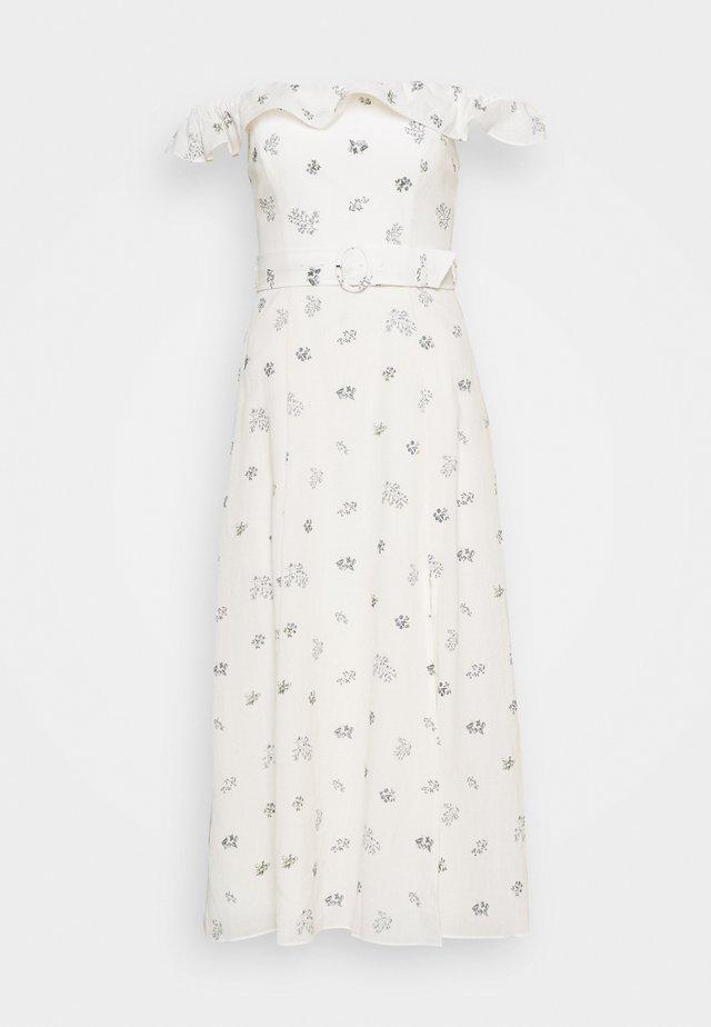 NIKKI BARDOT DRESS - Robe d'été - ivory sprig floral