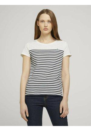 T-shirts print - gardenia white