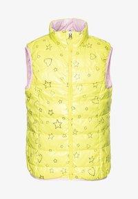 Benetton - WAISTCOAT - Kamizelka - yellow/lihgt pink - 0