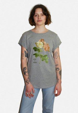 ROSES LARGE WTSRU - T-shirt print - mottled grey