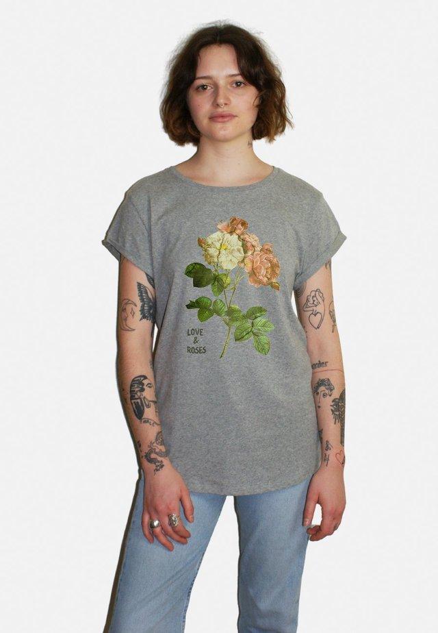 ROSES LARGE WTSRU - T-shirt imprimé - mottled grey