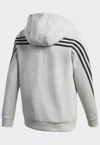 adidas Performance - 3-STREIFEN DOUBLEKNIT KAPUZENJACKE - Zip-up hoodie - grey - 3