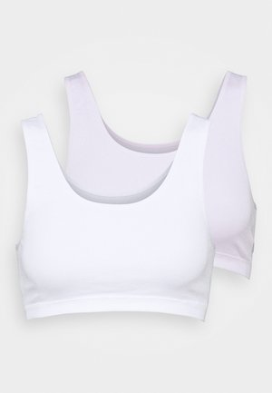 2 PACK - Bustier - lilac/white