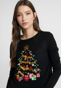Vero Moda - VMCHRISTMASTREE O-NECK - Jumper - black/green/red/misty rose/gold - 4