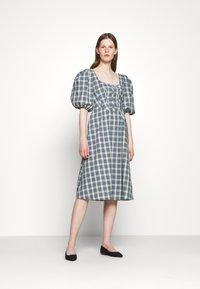 Alexa Chung - CORSET DRESS - Cocktailkleid/festliches Kleid - green/ pale blue - 0