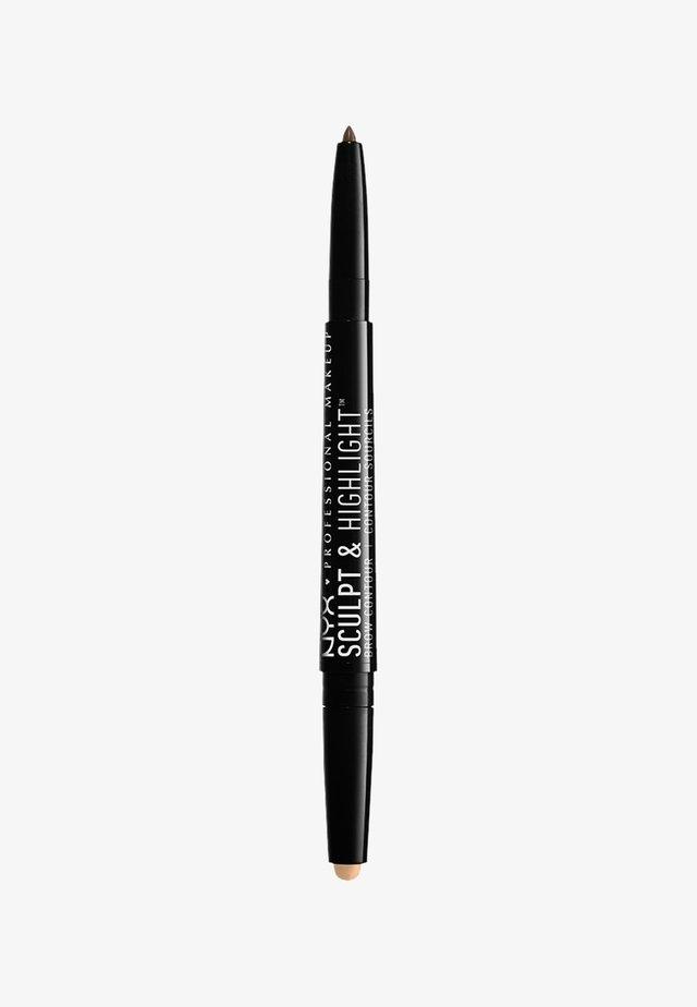 SCULPT & HIGHLIGHT BROW CONTOUR - Augenbrauenstift - 5 brunette/cream