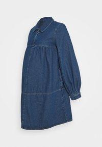 BABY DOLL DRESS - Denimové šaty - mid blue