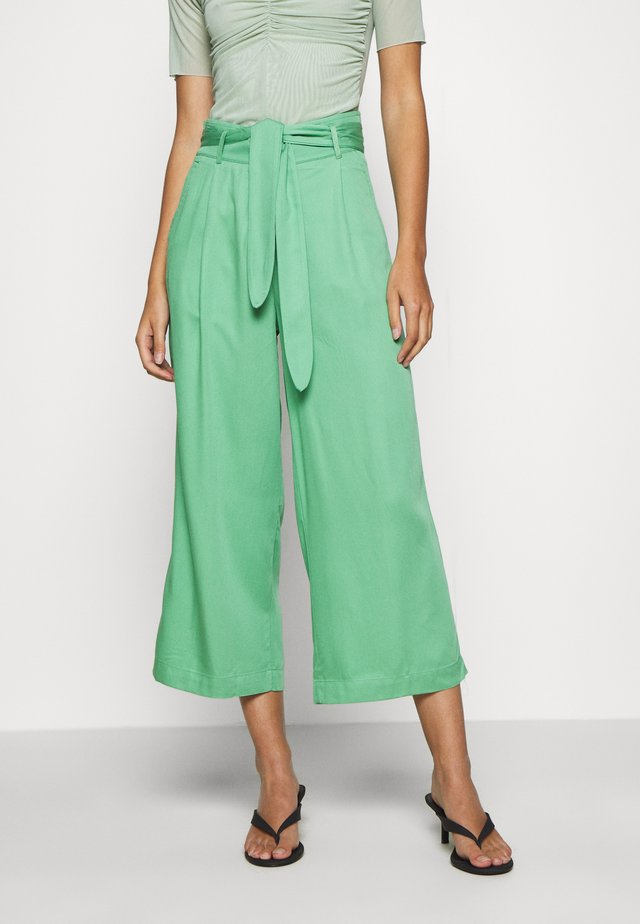 AVA PANTS UNI  - Spodnie materiałowe - neptune green