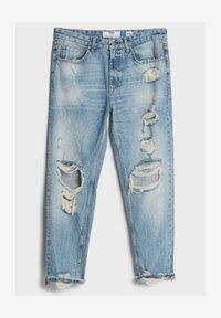 VINTAGE  IM STRAIGHT-FIT MIT RISSEN - Straight leg jeans - blue denim