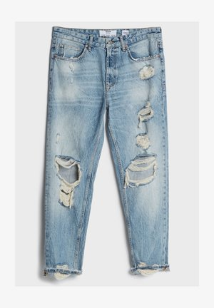 VINTAGE  IM STRAIGHT-FIT MIT RISSEN - Jeansy Straight Leg - blue denim