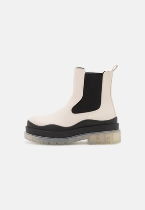 VEGAN STEVIIE - Platform ankle boots - ice