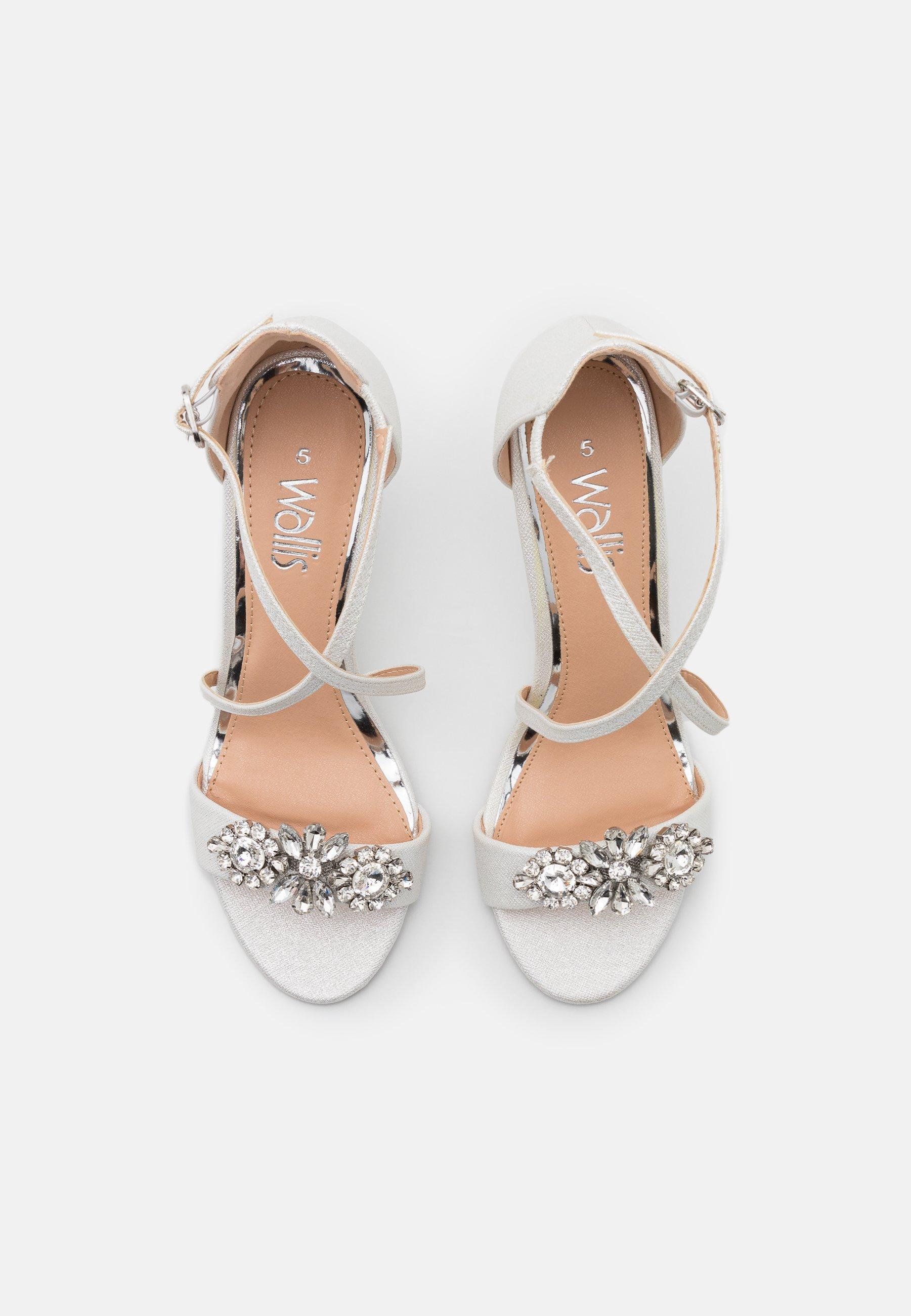 SIENNA Sandaletter med kilklack white