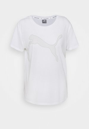 EVOSTRIPE TEE - Print T-shirt - puma white