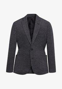 Mango - AUS WOLLE-BAUMWOLL-MIX - Blazer jacket - grau - 6