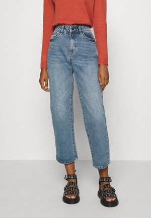 OBJMOJI  - Flared Jeans - medium blue denim