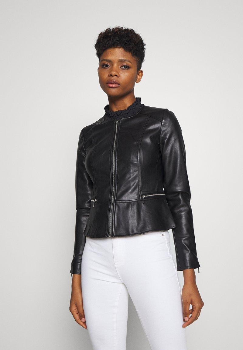 ONLY - ONLJENNY JACKET - Faux leather jacket - black