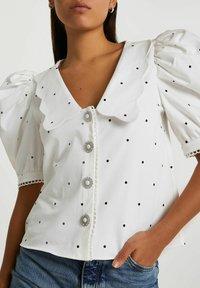River Island - Button-down blouse - white - 0