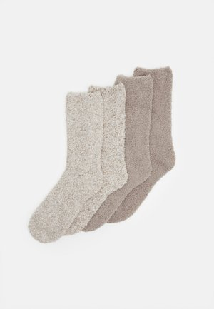 WOMEN FASHION SOCKS 4 PACK - Socks - taupe