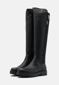 Tommy Jeans - DOUBLE DETAIL LONG BOOT - Over-the-knee boots - black - 2