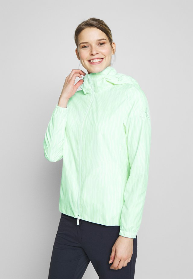 ALVAR JACKET - Trainingsvest - aqua/white