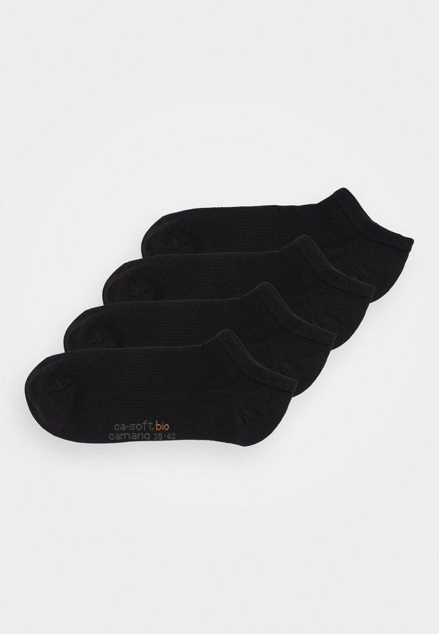 ONLINE SNEAKER UNISEX 4 PACK - Chaussettes - black