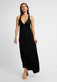 Anna Field - ANNA LONG VISCOSE DRESS  - Nattskjorte - black - 1