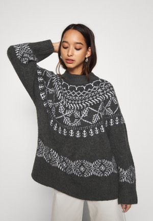 YASSEASON ICON - Jumper - charcoal gray/eggnog