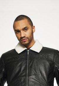 Karl Kani - RETRO JACKET - Faux leather jacket - black - 3